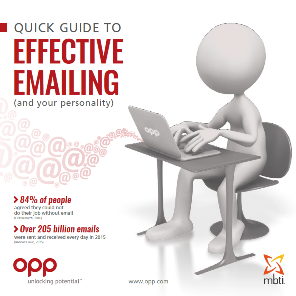 Quick guide to effective emailing and your personality