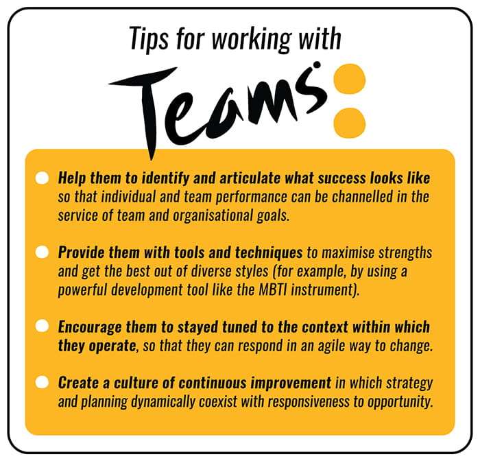 Tips for working with teams