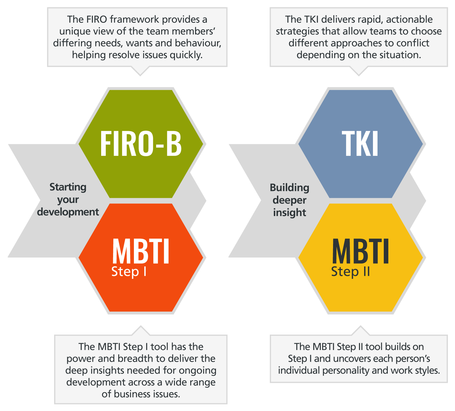 the mbti step i team report provides the ideal starting point for teams that want to get to know each other to improve their productivity