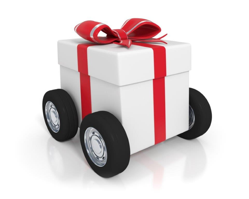 present box on wheels