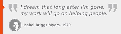 Isabel Briggs Myers quote