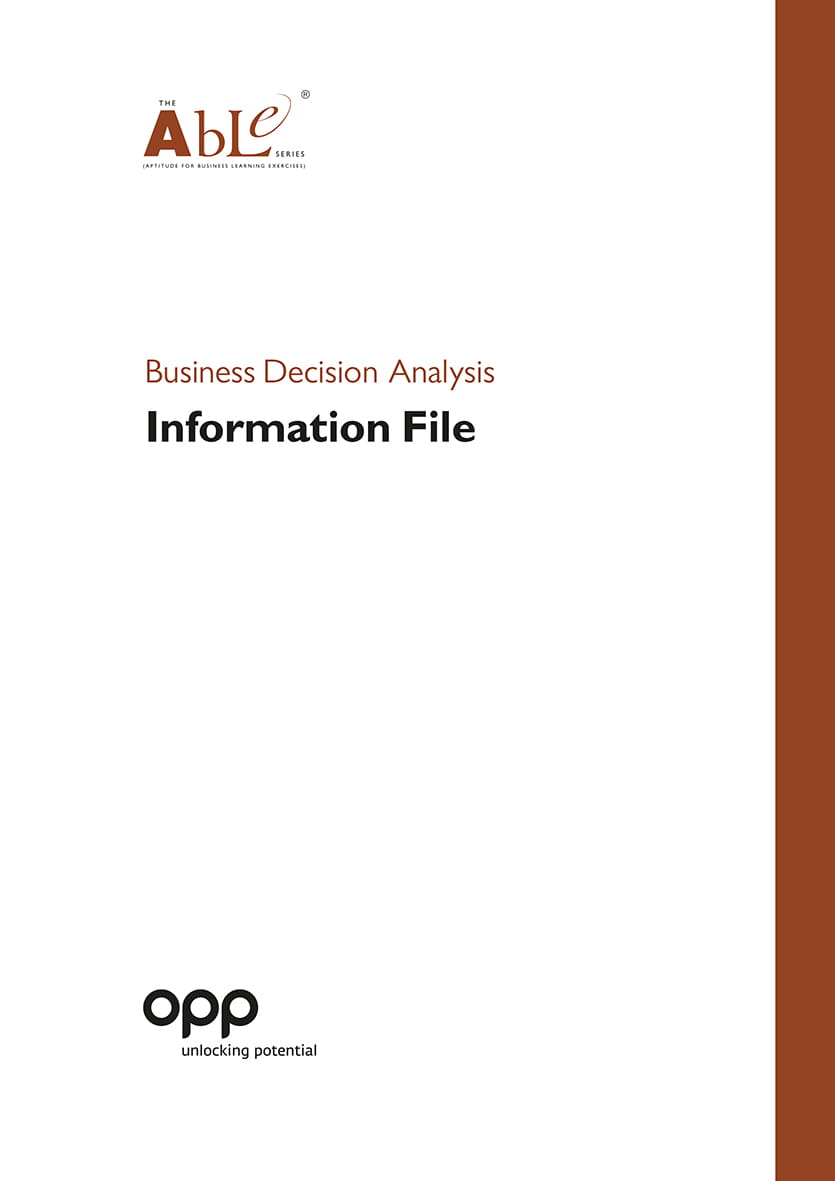 Business Decision Analysis Information File -Pack
