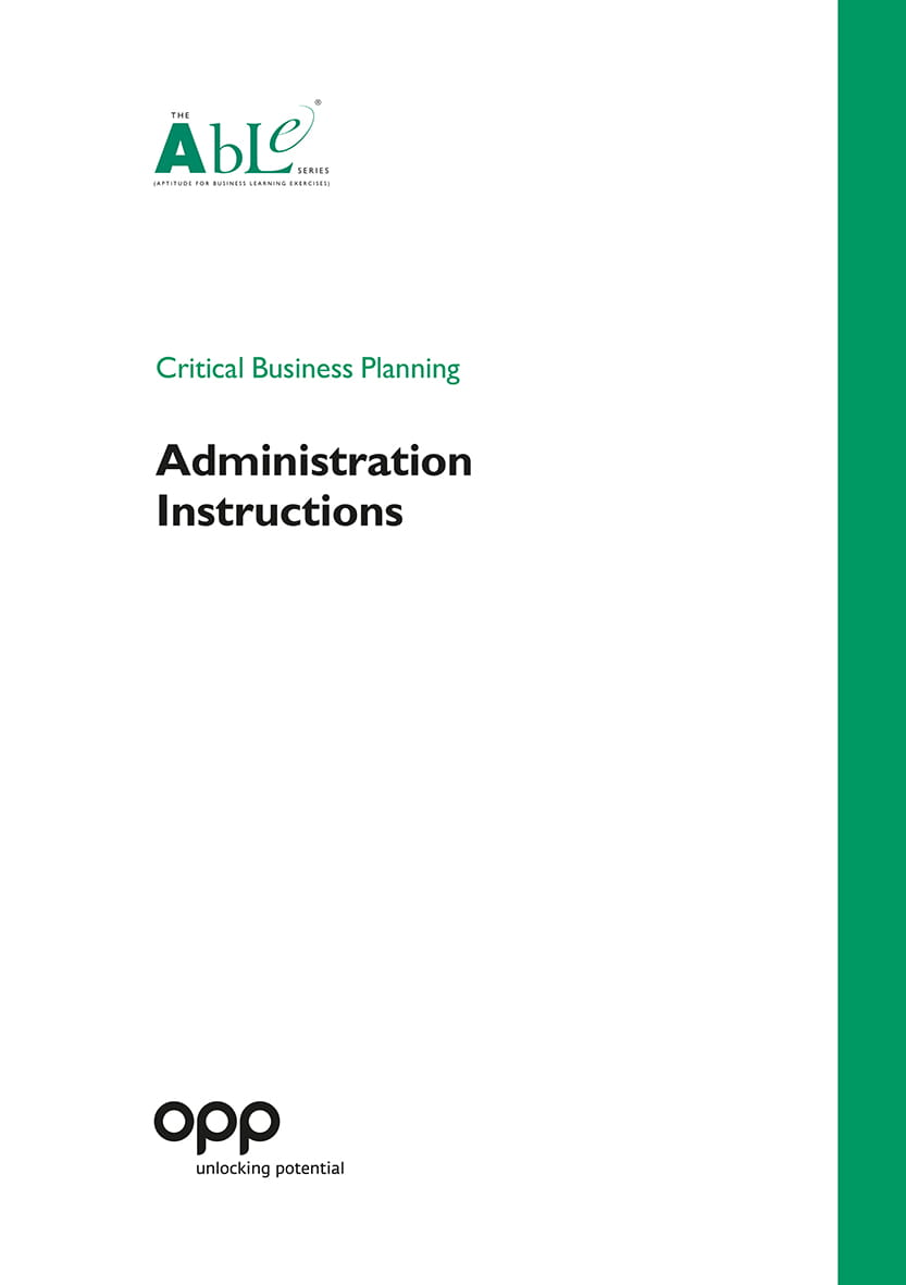 Critical Business Planning Administration Instruct