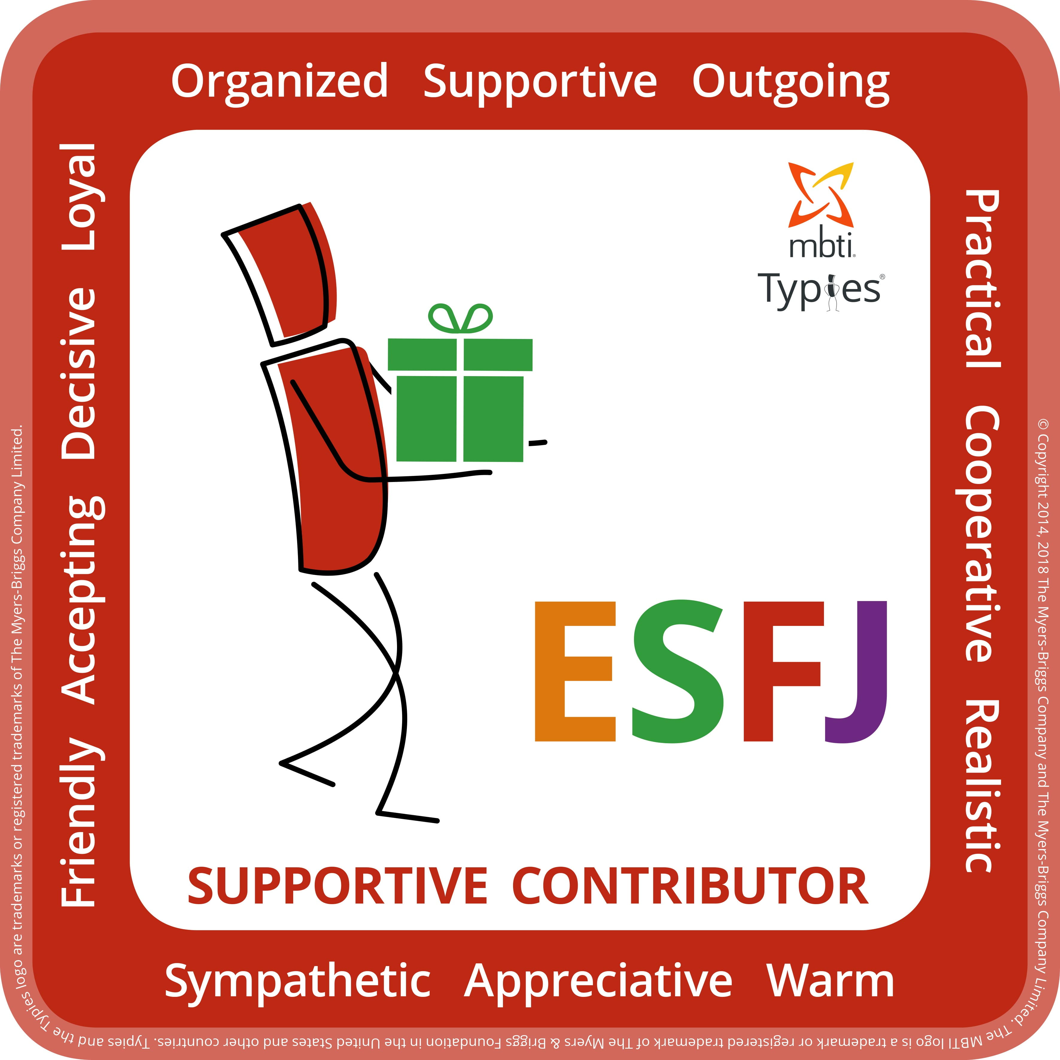 Typical characteristics of an ESFJ