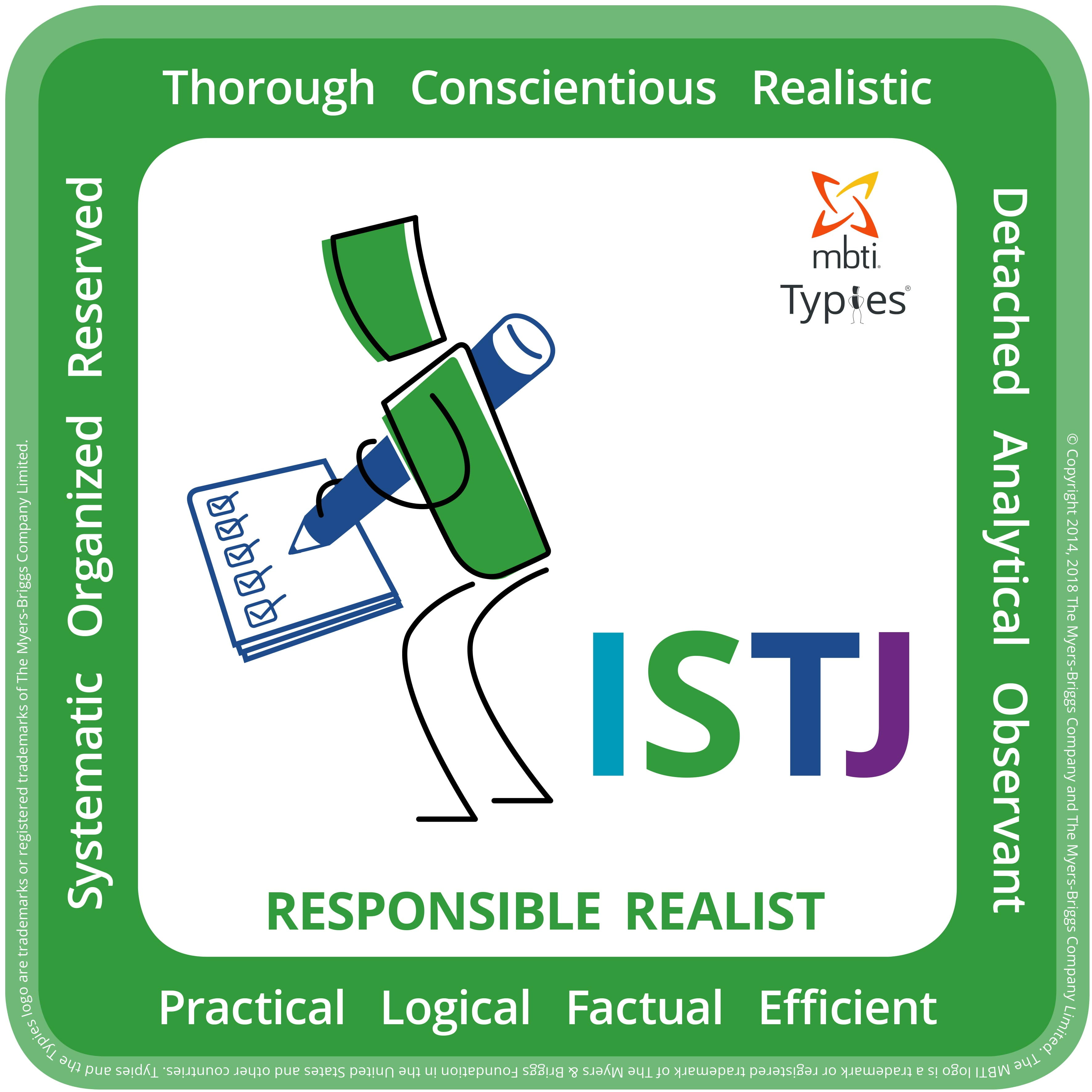 Typical characteristics of an ISTJ