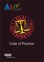 OPP ABLE Legal code of practice