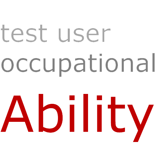 test user occupational ABILITY