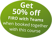 Get 50% off FIRO with Teams, when booked together with this course