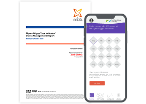 MBTI<sup>®</sup> Stress Management Report + Myers-Briggs<sup>®</sup> App