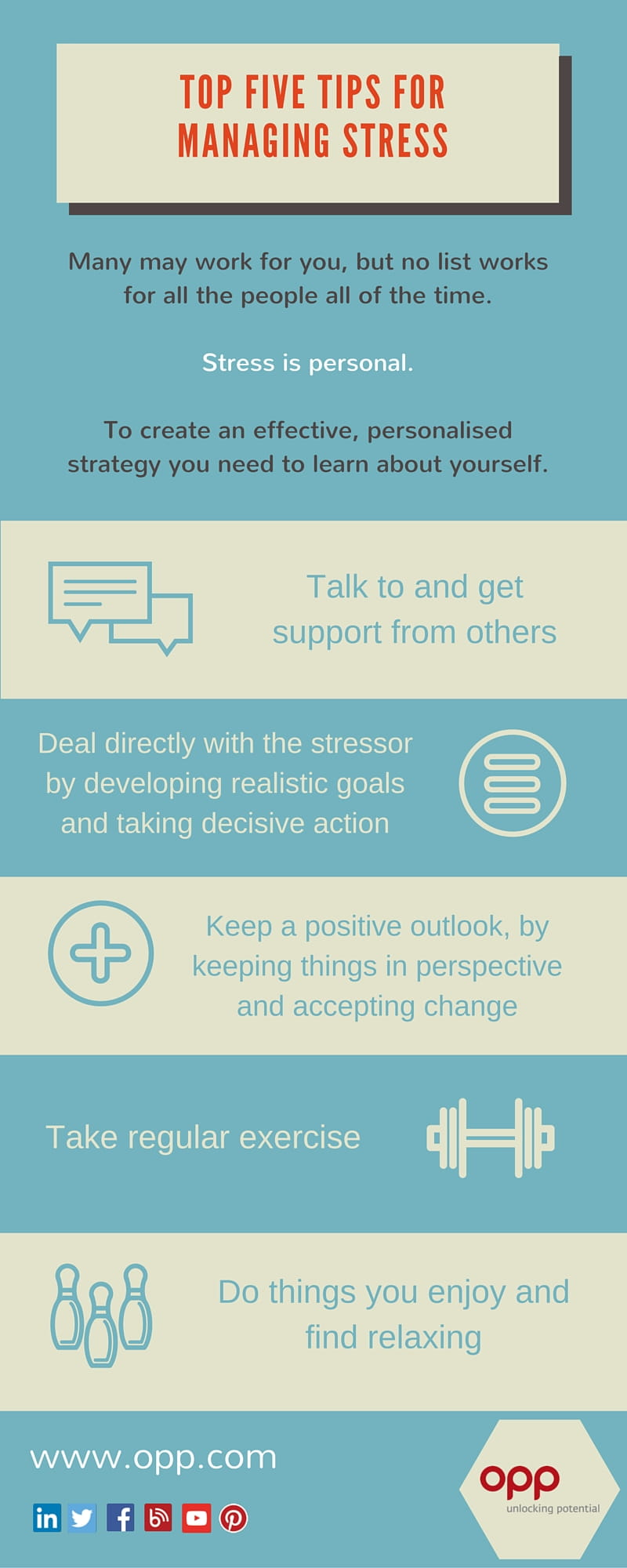 Managing stress infographic