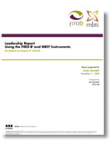 MBTI FIRO-B Leadership Report