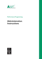 ABLE - Performance Programming - administration instructions